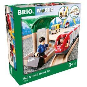 brio zestaw drogowo kolejowy 33209