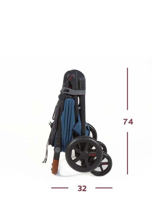 Wózek spacerowy MAST M4 wygląd złożony
