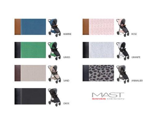 Wózek spacerowy MAST M4 dostępne kolory do wyboru