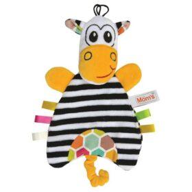 zabawka welurowa pacynka zebra