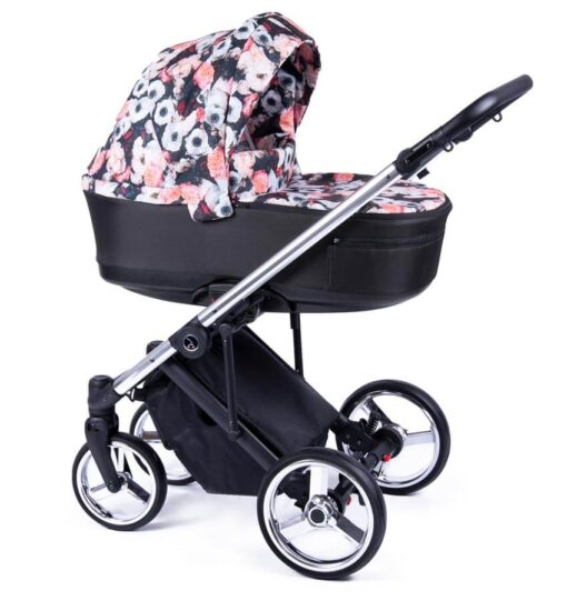 F-01 srebrny - Coletto Fado wózek wielofunkcyjny głęboko spacerowy - Wszystko dla Dziecka