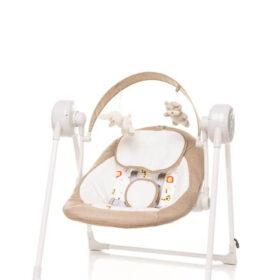 SWING 4Baby Swing elektryczna huśtawka-bujak dla dzieci kolor CAMEL