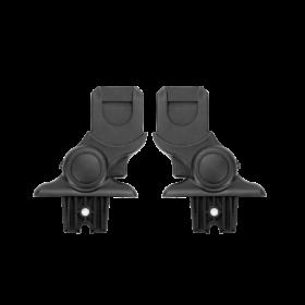 adaptery do fotelika umożliwiają wpięcie w ramę wózka
