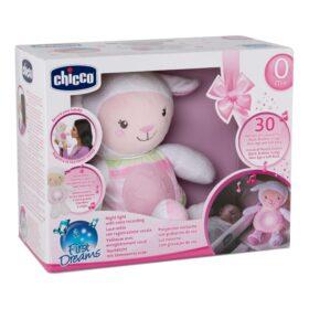 Chicco owieczka z projektorem różowa
