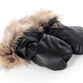 rękawiczki do wózka czarne
