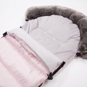 śpiwór z kapturem z futerkiem